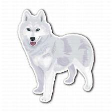 White Siberian Husky Dog Bumper Laptop Truck Car Sticker