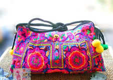Embroidered Floral Crossbody Bag, Purse Clutch - Bohemian, Boho Hippie