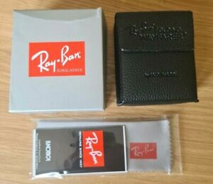 Ray Ban Black Flip Up Sunglasses Case, Box and Cloth included.