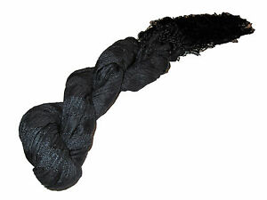 Polo Ralph Lauren Indigo Black Silk Blend Gauze Long Neck Scarf