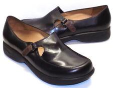 DANSKO Black Leather Adjustable Vamp Loafers Women's 39 US Shoe Size 8.5 / 9M