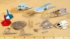 Lot of 6 Vintage Mini Star Trek Spaceships (game pieces & micro machines