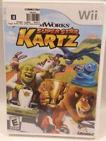 DreamWorks Super Star Kartz (Nintendo Wii, 2011) Shrek video game w Manual Works
