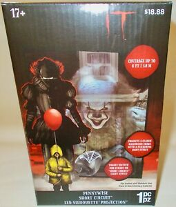 IT Pennywise Clown Short Circuit LED Silhouette Projection Halloween Light Show