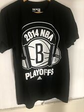 Rare adidas Brooklyn Nets Mens 2014 NBA Playoffs Goto T-Shirt Medium