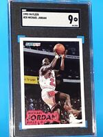 1993 Michael Jordan Fleer #28 - SGC 9 MINT -  CHICAGO BULLS HOF - PSA COMP