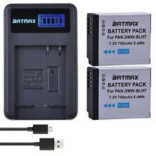 2 pièces 750 mAh DMW BLH7 DMW-BLH7 Batterie + LCD USB Chargeur pour Panasonic