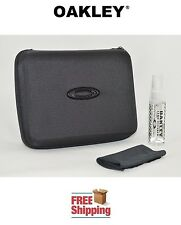 OAKLEY® SUNGLASSES EYEGLASSES EXTRA LARGE STORAGE CASE + CLEANER + CLOTH BLACK