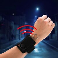 Personal Panic Anti-Rape Alarm Loud Sound Safety Security Armband Ring With LED