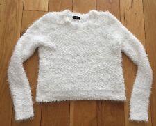 Cream / Off White Coloured Soft Woven Jumper Size 6 UK