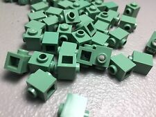 NEW LEGO MODIFIED BRICK 1X1 STUDS ON 2 SIDES SAND GREEN 47905 AUTHENTIC (x50)