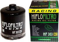 HifloFiltro Replacement Motorcycle Racing Oil Filter (Black) HF303RC
