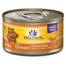 Wellness Complete Health Natural Grain Free Wet Canned Cat Food Gravies Chic...