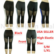 Women's Legging Active Wear High Waist Fitness Yoga Running Gym Sport Pants 606