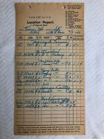 B & M Railroad Corp Report 1966 of Cars on Hand Hard to Find Train Defunct  #H