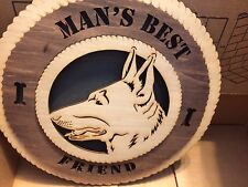 """Green Mountain Laser """"Man's Best Friend"""" Wood Particle Board Sign - NEW"""