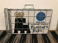 Vintage Pan Am Clipper Cargo Pampers Pets Carrier