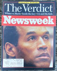 Newsweek Magazine October 16, 1995 OJ SIMPSON The Verdict Special Report Issue