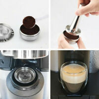 Stainless Steel Coffee Capsule Pod Filter Tamper Reusable For Nespresso Vertuo