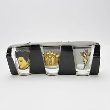 Elvis Presley Shot Glass - Pack of 3 - Graceland, TCB - Official