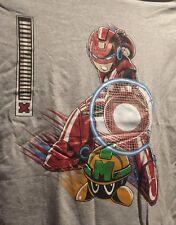 Mega Man / Iron Man mashup shirt Medium 1up Block ShirtPunch EXCLUSIVE