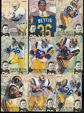 1994 FLEER JEROME BETTIS FOOTBALL COMPLETE INSERT SET 1-12