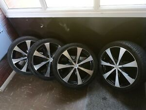 """18"""" Lenso Diamond Cut Alloy Wheels with tyres"""