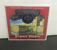 Budweiser First Brew Label Columbus Ohio Brewery Expansion February 2004 Unused