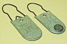 VEPCO METER TAGS SET 2 VA ELECTRIC POWER SEALS AMERICAN CASTING MURRAY USA.