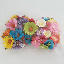 35 Daisy Roses Mulberry Paper Flowers Wedding Headpiece Scrapbook MD1/2-427