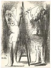 "Pablo Picasso original lithograph ""Artist and Model"""