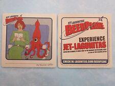 BEER Coaster <> Fly Jet LAGUNITAS Brewing <> Octopus on Plane! <> Win Trip to CA