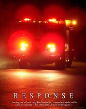 Firefighting Motivational Poster Art Fireman Equipment Badge Helmet Tools MVP213