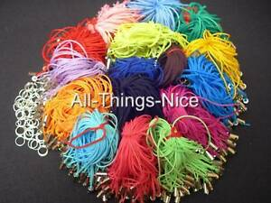 Art Craft COLOUR MIX String Cord Mobile Phone Charm Dangle Loop Strap Lariat 50