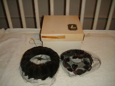 Vintage Modern Miss Mink Hat W/Mesh Cover-Maas Brothers-2 Hats + Box-Wow-Vintage