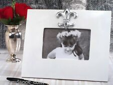 Silver Fleur De Lis Signature Frame Guest Book Alternative Wedding Guests