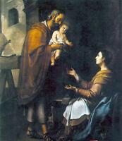 Nice Oil painting Bartolome Esteban Murillo - The Holy Family Madonna & child
