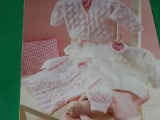 Babies  v neck and round neck cardigans size 16-26 knitting pattern
