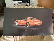 1976 Corvette Showroom Poster!