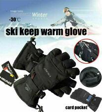 Waterproof Fleece Ski Gloves Winter Warm Snowboard Thermal Motorcycle Snow Men