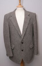 "Brook Taverner men's smart grey Harris Tweed wool sports jacket 42"" 107cm reg."