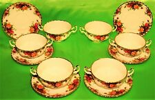 SERVIZIO TAZZA COPPA ZUPPA MINESTRA ROYAL ALBERT OLD COUNTRY ROSES ENGLAND (344)
