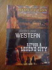 // NEUF COFFRET 2 DVD LOT WESTERN RETOUR LEGEND CITY REDEMPTION CENDRES GUERRE