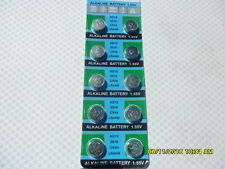 10 X LR44 AG13 A76 BATTERIES BATTERY 1.55V EXP12/2022 WATCH ALARM REMOTE TOYS C