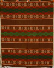 GORGEOUS Vintage 1920 Jacobs' Oregon City Label Antique Blanket ~Indian Design!