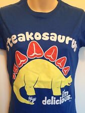 "Goodie Two Sleeves ""Steakosaurus I'm delicious"" T-Shirt medium size 10 approx"