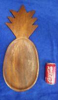 Old Vintage Hawaiian Koa Wood Large Pineapple Pupu PlatterTray Tiki BarHawaii