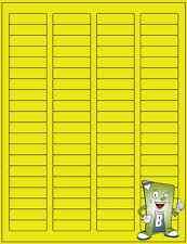 Colors Address Labels fits Word Size .5 x 1.75 1000 Labels Blank Label Laser Ink