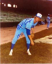 BILL SINGER  TORONTO BLUE JAYS 1977  ACTION SIGNED 8x10