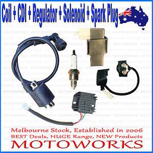 Coil CDI Regulator Solenoid Spark Plug 200cc 250cc PIT Quad Dirt Bike ATV Buggy